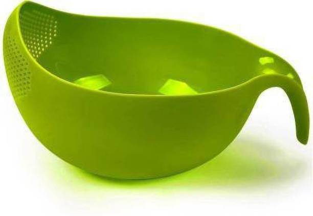 Bluewhale New Rice, Fruit, Vegetable Washing Bowl With Handle Colander
