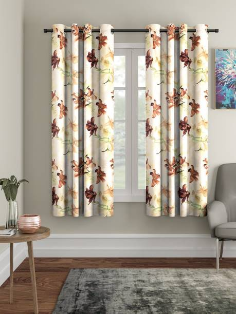 Home Sizzler 153 cm (5 ft) Polyester Window Curtain (Pack Of 2)