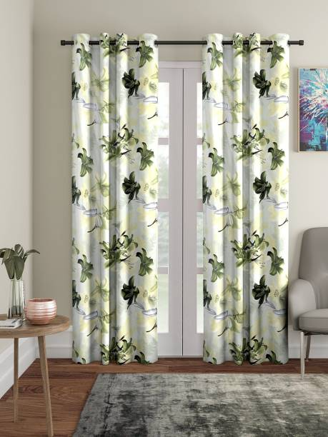 Home Sizzler 213 cm (7 ft) Polyester Door Curtain (Pack Of 2)