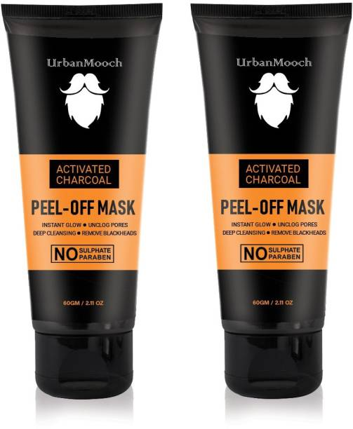 UrbanMooch Charcoal Peel Off Mask For Blackhead Removal, Glow & Radiance