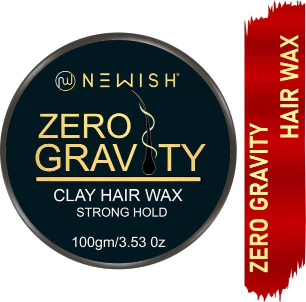NEWISH 100% Naturals Zero Gravity Strong Hold ClayHair wax-100 g- Extra Hair volume , Restyling,Non sticky , Matte Finish Hair Wax