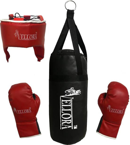 Vellora Boxing kit Gloves, Safety Head and Punching Bag for Kids Boxing Kit