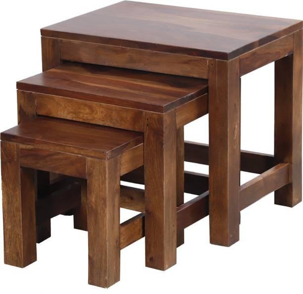 Vintej Home Sheesham Wood Solid Wood Nesting Table