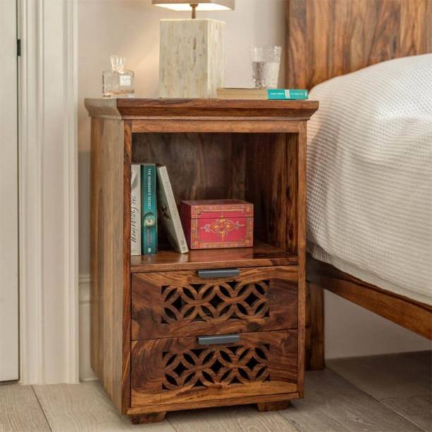 DriftingWood Solid Wood Bedside Table