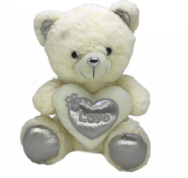Dimpy Stuff Bear With Heart (Sparkle Love)  - 30 cm