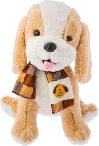 Dimpy Stuff Standing Dog with Muffler  - 36 cm