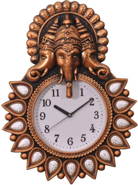mauli Analog 44 cm X 34 cm Wall Clock