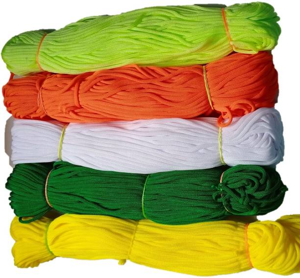 PUSHPA CREATION MACRAME CORD MULTY COLOUR SET OF 5 colour