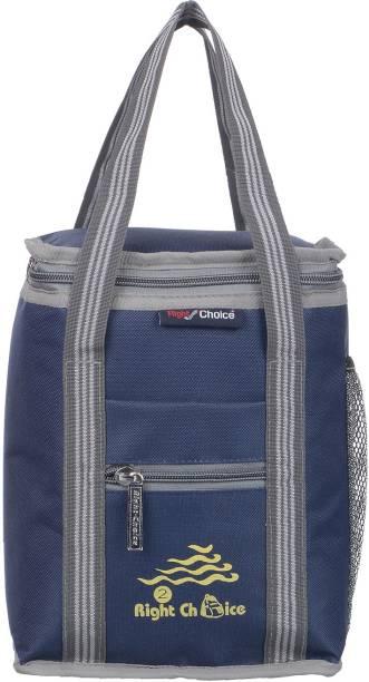 RIGHT CHOICE office tiffin bag for all men women boys & girls stylish lunchbag handbag Navy Blue Grey (3007) Waterproof Lunch Bag