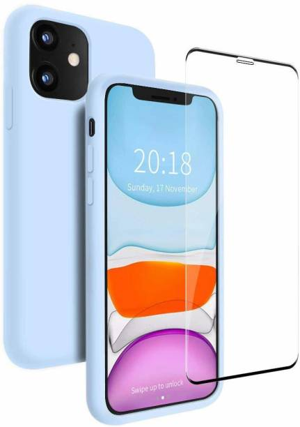 UNQMobi Back Cover for Logo Cut Slim Fit Case with Shockproof Rubber and Anti-Dust Back Cover For Apple iPhone 11