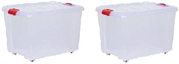 Amar Multipurpose Use Storage Container Plastic Kitchen Trolley