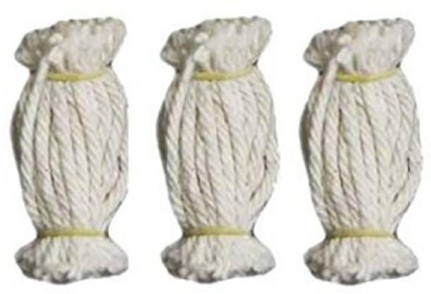 saiostore Lamp Wicks / Vilakku thiri / Cotton lamp wicks/ diyas (Pack of 360 pcs) Cotton Wick