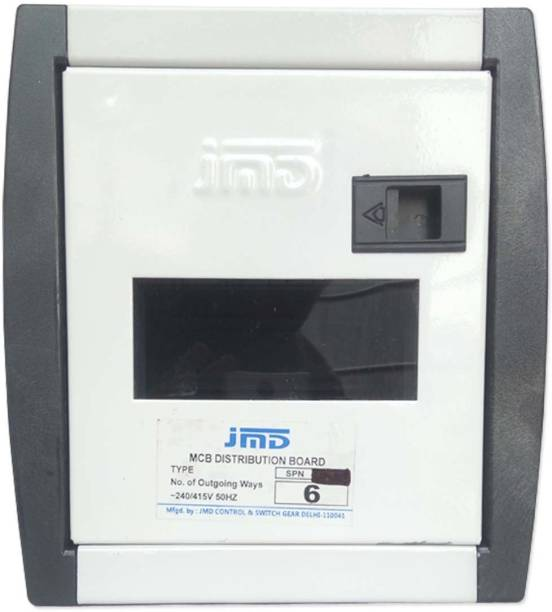 jmD Gold Db Spn 6 Way Mcb Distribution Box Single Pole with Neutral 6 Way Double Door Distribution Board