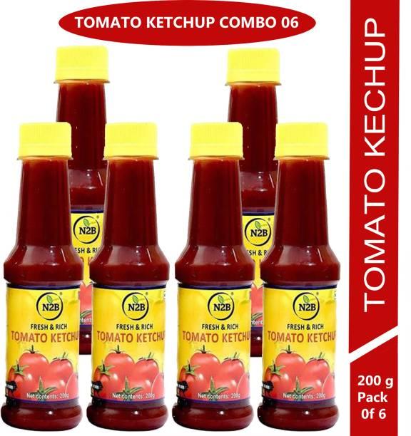 N2B Tomato Ketchup 1200g (Pack of 6, 200g each) Ketchup
