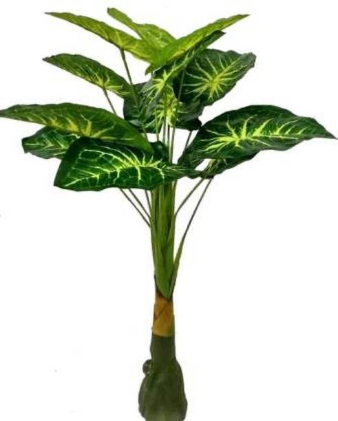 KAYKON Artificial Plant Green Money Plant For Home Decor - 3 Feet Artificial Plant