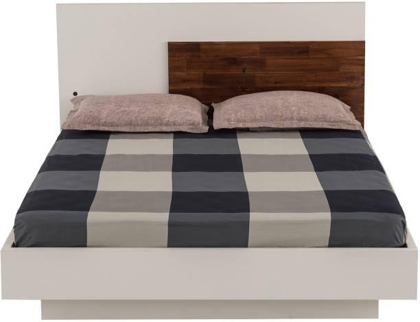 Durian Mark Plus White Engineered Wood King Hydraulic, Box Bed
