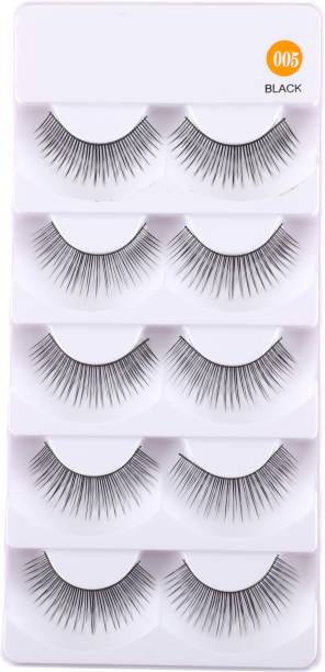 CETC 5 Pairs Beauty Makeup Handmade Messy Cross Style False Eyelashes