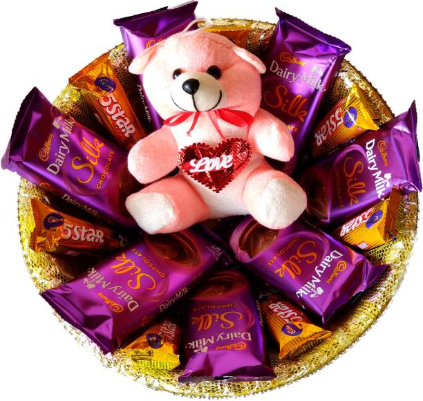 Cadbury Special Chocolate Basket | Dairy Milk Silk Basket Gift Hamper Combo