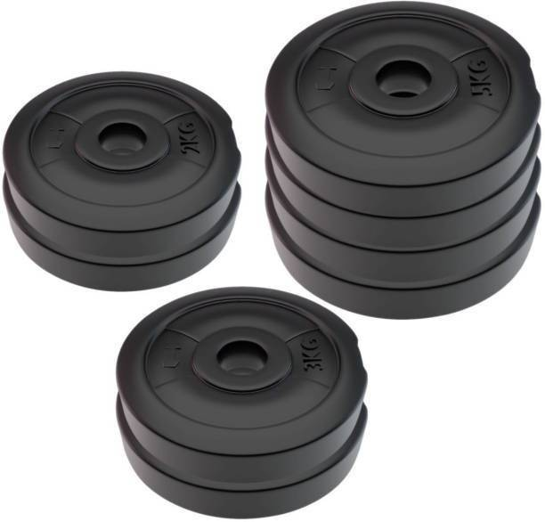 COMPASS PVC -30-KG-WEIGHT-PLATES Black Weight Plate
