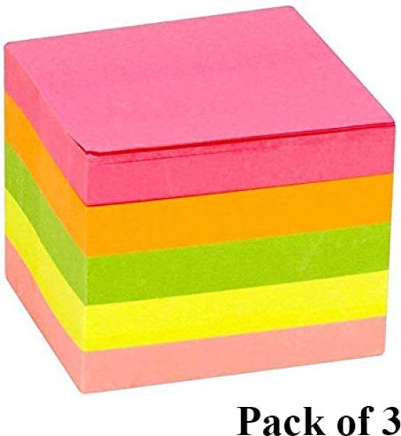 DALUCI 3 X 3 Sticky Notes Notepad 300 Sheets Regular, 3 Colors