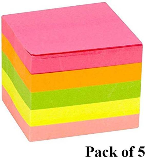 DALUCI 3 X 3 Sticky Notes Notepad 500 Sheets Regular, 5 Colors