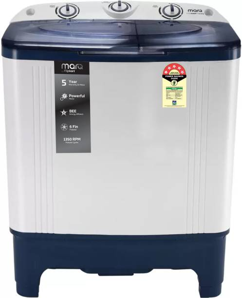 MarQ By Flipkart 6.5 kg 5 Star Rating Semi Automatic Top Load White, Blue
