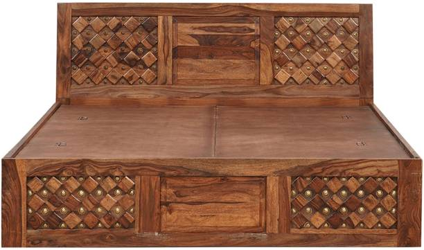 Versatile Solid Wood King Box Bed