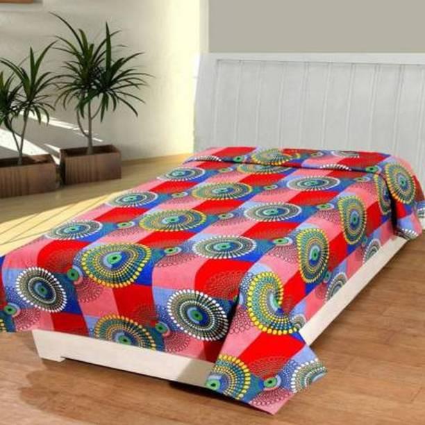 IVS HOME 150 TC Microfiber Single Floral Bedsheet