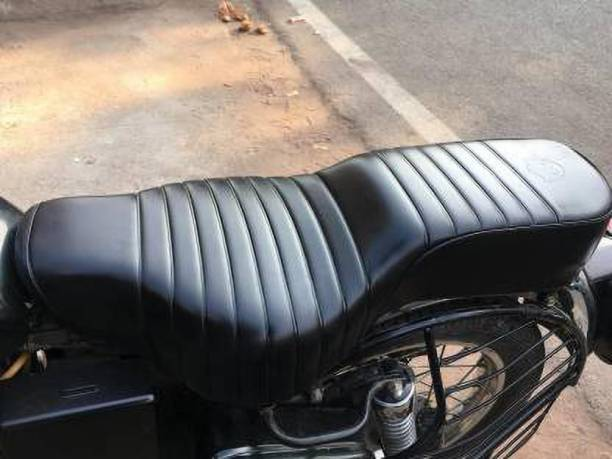 KOHLI BULLET ACCESSORIES Electra/Standard 350/500 Seat Cover Original Type (Black) Single Bike Seat Cover Single Bike Seat Cover For Royal Enfield Electra EFI39, Electra, Electra Twin Spark, Electra 350, Electra 500
