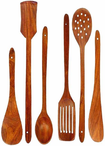 NABIL CREATION wooden spoon Wooden Cutlery Set (Pack of 6) Wooden Cutlery Set