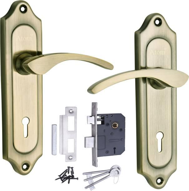 ATOM WIH 509 Brass Antique with Legend Double Action Lock Iron Door Handle