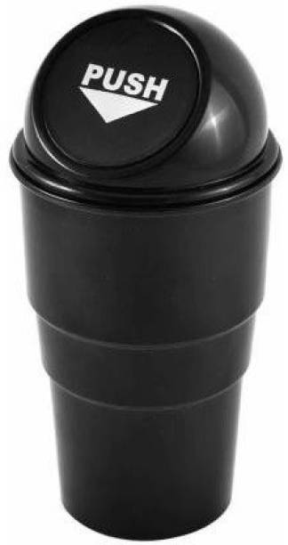 ATMAN Mini Car Dustbin Trash Bin Rubbish/Compact Car Garbage Bin/Car Storage Bucket Trash Box/Dust Case Holder Bin/Car Ashtray Universal Traveling Portable Mini Car Trash (Pack of 1) Car Trash Bin Bag