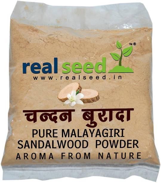 Real Seed Pure Natural Sandal Wood Powder - Original Chandan Powder 50 Grams Pack