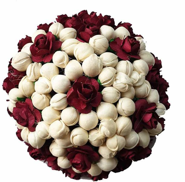 Foreign Holics Bun Stylish Juda Hair Gajra Accessories for Women Wedding 11 Cm Bun