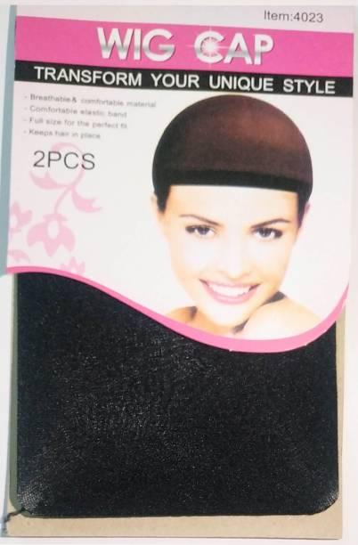 BELLA HARARO FULL HEAD WIG CAP wig cover nylon finest hairnet 2pcs Hair Accessory Set