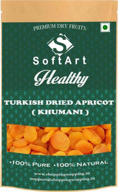 Soft Art Dried Seedless Turkish Apricot (Khumani) (250 gm) Vacuum Pack Apricots