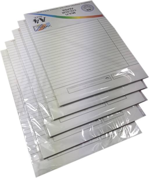 MAJESTIC BASKET High Quality Both Side Ruled White Project/ Assignment/ Practical / Homework Sheets [Pack of 5 - 100 Sheets] Both Side Ruled A4 90 gsm Multipurpose Paper