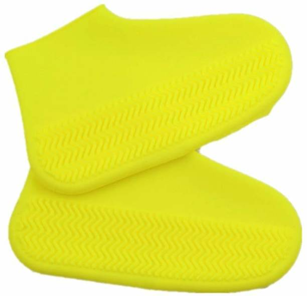 NYALENTERPRISE WATERPROOF SILICON SHOES COVER ANTI SLIP Silicone Multi Boots Shoe Cover Silicone Multi Toes Shoe Cover Silicone yellow Boots Shoe Cover