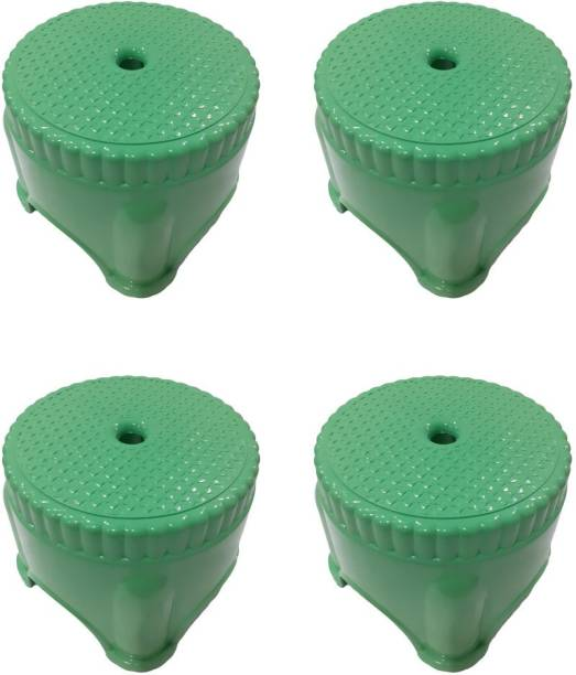 mastBus (Set of 4) Stool | Small Stool for Bathrooms| Stool for Kitchen | Panda Plastic Stools for Sitting in Bathroom (3 Months Warranty) Bathroom Stool