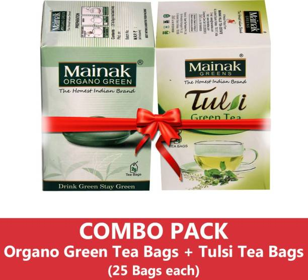 Mainak MGTBTTB_25_2 Tulsi Green Tea Bags Box