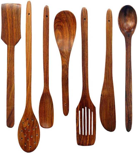 NABIL CREATION wooden spoon Wooden Cutlery Set (Pack of 7) Wooden Cutlery Set