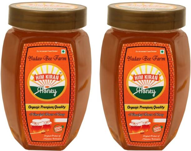 Himkiran 100% Organic Forest Honey Pack of 2 (500g each)