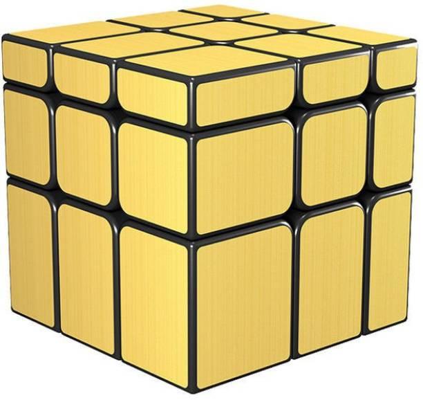 Cubelelo QiYi 3x3 Mirror Cube Golden Speedcube Magic Puzzle