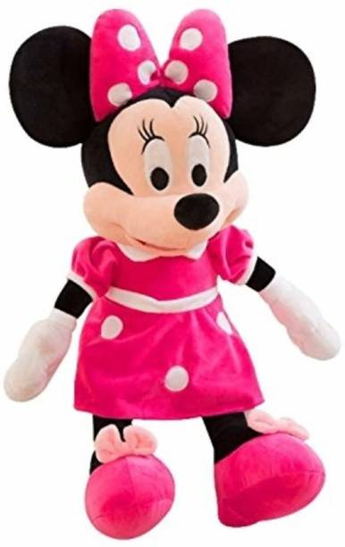 Luipui Minnie Mouse Plush Teddy Soft Toys ( Set of 1) with Hairband  - 30 cm