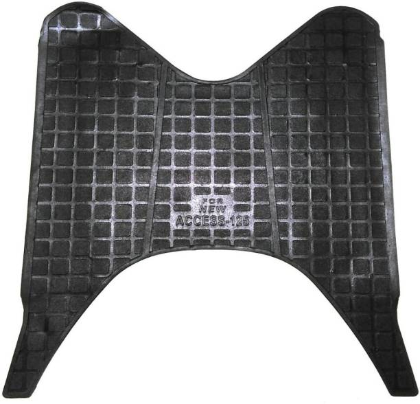 WSI W Black Color Rubber FootMat2 Suzuki Access 125 Two Wheeler Mat