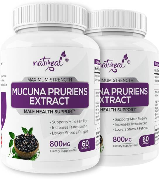 Natureal Mucuna Pruriens Kapikachhu Extract 800mg Capsules for Advanced Male Health Support