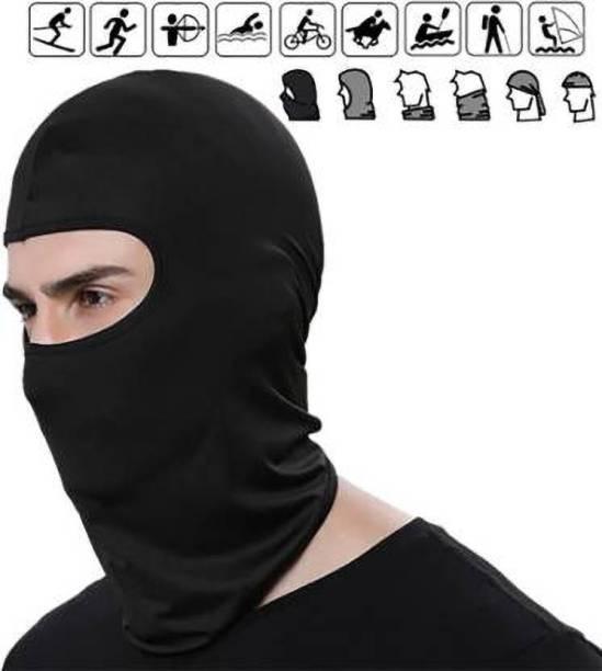Safies Black Bike Face Mask for Men & Women