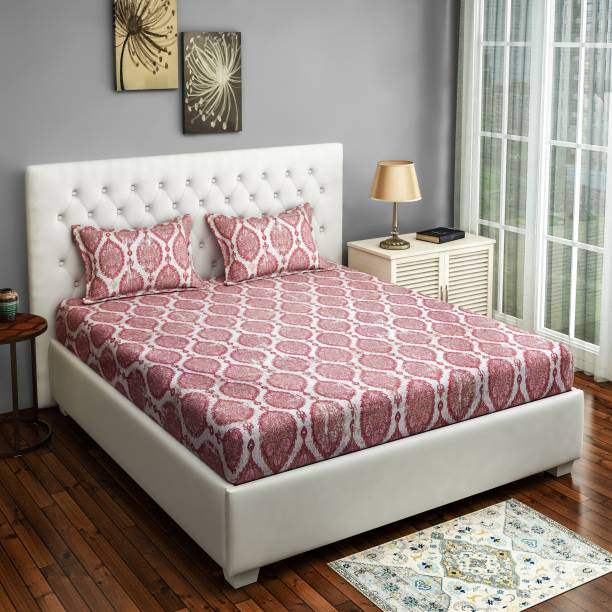 SWAYAM 160 TC Cotton Double Motifs Bedsheet