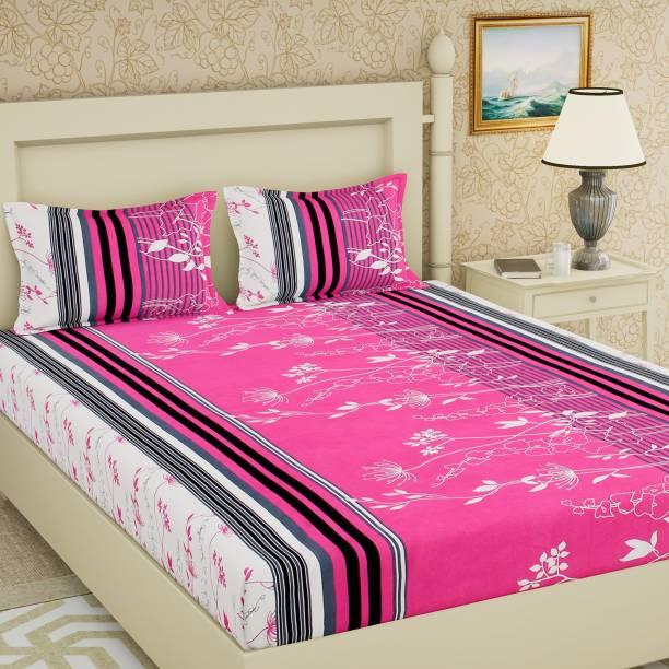 IWS 104 TC Cotton Double Printed Bedsheet