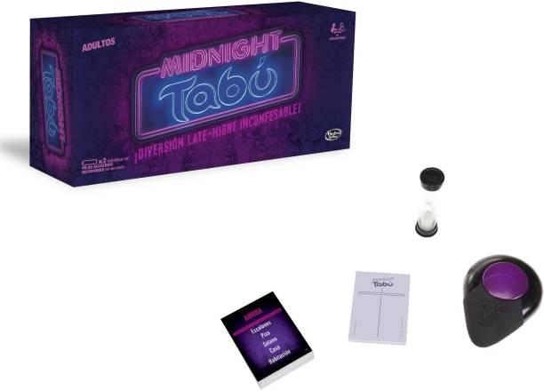 Hasbro Midnight Taboo Game Word Games Board Game